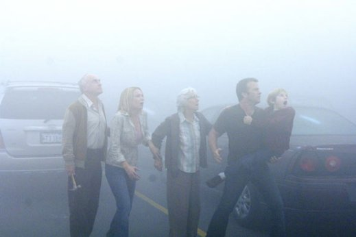 The Mist : Photo Frances Sternhagen, Frank Darabont, Jeffrey DeMunn, Laurie Holden, Nathan Gamble - Copyright TFM Distribution